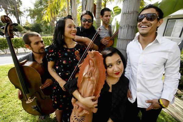 Martha Gonzalez, center, Peter Jacobson, left, Tylana Renga Enomoto ...