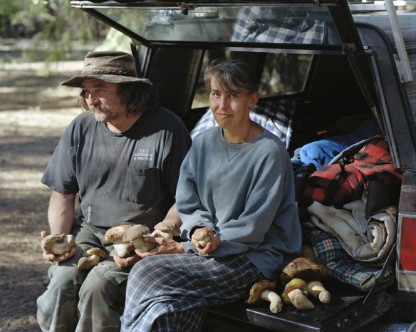 Dawn and Tim with Boletes they picked at a camp near Sisters, Oregon, 2011.