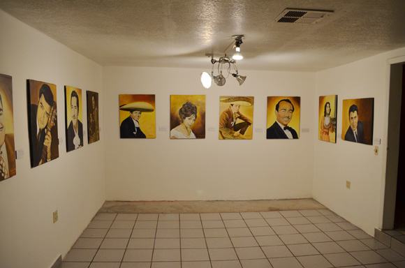 Paintings from 'Homenaje a las Voces Pioneras de Mexicali' | Photo: Courtesy of Amy Sanchez.