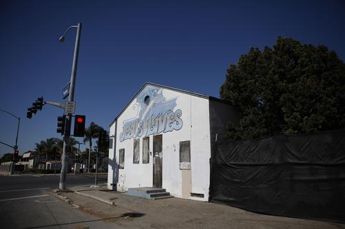 "A house of worship ( Katie Falkenberg / For the Times / June 29, 2012 ) ""Jesus Lives"" proclaims a former Japanese Presbyterian Church, dedicated in 1934, in a part of Huntington Beach that was once a prewar Japanese settlement known as Wintersburg."