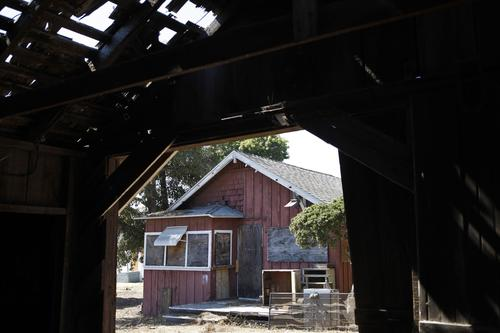 A distant domicile ( Katie Falkenberg / Los Angeles Times / June 29, 2012 ) The empty Wintersburg home of Japanese immigrant Charles Furuta and his wife, Yukiko. Rainbow Environmental Services now owns the property.