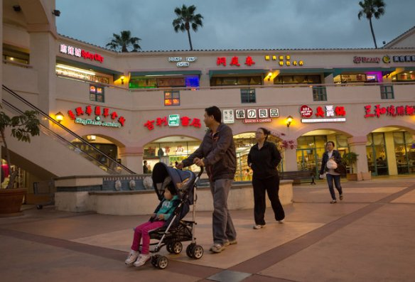 Monica Almeida/The New York Times A San Gabriel shopping center.