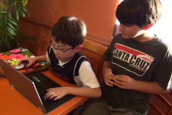"For ""Rodrigo's World,"" the Jefferson students and their families rented a server and installed Minecraft on it, allowing the kids, even Rodrigo, to enter the same Minecraft world. (Craig Kuwahara)"