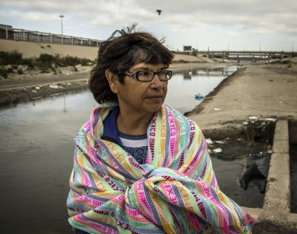 Credit: José Pedro Martinez, used with permission Above: Micaela Saucedo fought to improve the lives of deported migrants living in Tijuana.